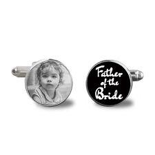 Father of Bride Cufflinks, Photo Cuff Links,  Dad Wedding Gift , *FREE GIFT BOX*