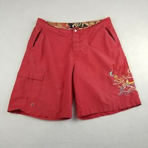 Polo Sport Ralph Lauren Swim Trunks Suit Size Large Red Key West Embroidered VTG