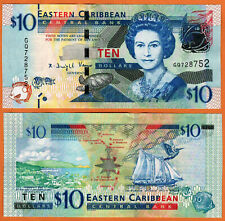 EAST CARIBBEAN STATES ND(2012) UNC 10 Dollars Banknote P-52b Security Thread