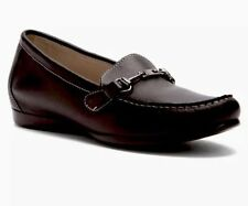 Womens MUNRO AMERICAN black leather loafers shoes sz. 10.5 M