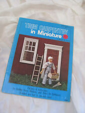 Trim carpentry in Miniature Booklet Patterns Instructions Building Doll House
