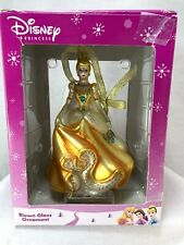 Disney Princess Christmas Blown Glass Ornament Box Pre Owned