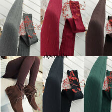 Womens Winter Fashion Pantyhose Stretch Knit Tights Footed Warm Stockings Socks