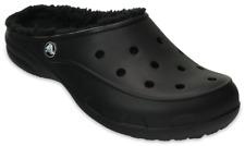 1c8e39354 Crocs Freesail Black Plush Lined Clogs Mules Ladies Size 8 Euro 39