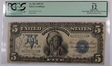 1899 Five Dollar $5 Silver Certificate FR# 281 PCGS F-12 Apparent Edge Splits