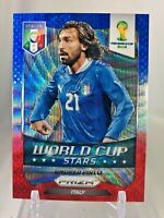 2014 Panini Prizm World Cup Stars ANDREA PIRLO Blue Red Wave #24