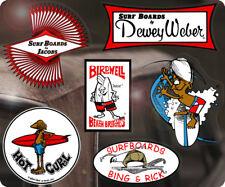 6x Pièce Surf Skate Autocollant Sticker Aloha Hawaii Maui Jacobs Dewey Weber s1