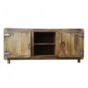 Cromer Solid Wood TV Stand Entertainment Unit with Fridge Doors (MADE TO ORDER)