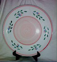 "Caleca PINK GARLAND Italian Pottery 12-1/2"" Chop Plate/Round Platter (big)"