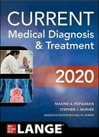 Current Medical Diagnosis and Treatment 2020 by Maxine Papadakis Free Shipping!