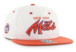NEW YORK METS MLB CROSSTOWN SURE SHOT '47 2-TONE CAPTAIN SNAPBACK CAP HAT NEW!
