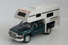 1999 Dodge Ram 1500 Pickup Truck Camper / RV, 1:46 Scale Diecast Model, Green