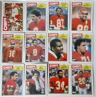 1987 Topps Kansas City Chiefs Team Set of 12 Football Cards