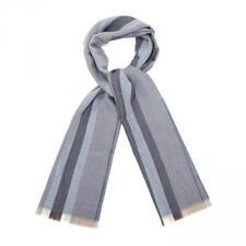 NWT GUCCI BLUE FLANNEL STRIPED LANA WOOL 30 x 180 SCARF WRAP #387754 ITALY 400$