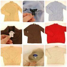 Lot 6 Size Large Mock Turtleneck Sweaters Top Winter Clothing Bundle Brown Green