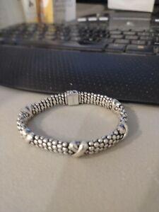 Lagos 925 SS Caviar X Station Bracelet