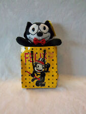 """Felix the Cat A&A Plush in the Bag Soft Toy Stuffed Animal 9"""" Bag is crushed"""