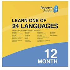 Rosetta Stone Learn 1 Of  24 Languages 12 Month Online Access - Sealed Envelope