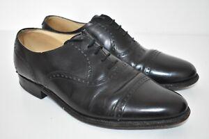 Vintage Saxone Hampton Black Leather Brogues Oxford Formal Shoes UK 8.5 Free P+P