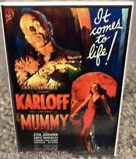 "Mummy Movie Poster 2"" x 3"" Refrigerator Locker Magnet Karloff Image 1"