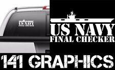 US Navy Final Checker Aircraft Carrier Flight Deck Crew Veteran Decal Sticker