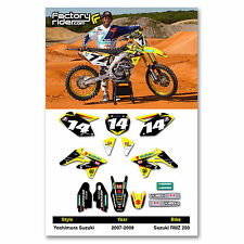 2007 - 2009 SUZUKI RMZ 250 Yosh Dirt Bike Graphics Kit Motocross Graphics Decal