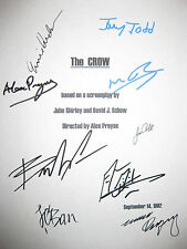 The Crow Signed Movie Script X9 Brandon Lee Bai Ling Ernie Hudson Wincott reprnt