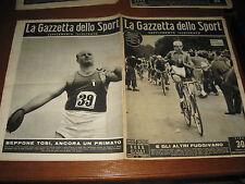 LO SPORT ILLUSTRATO GAZZETTA 1948/35 COPPI MONDIALI CICLISMO ATLETICA BEPPE TOSI
