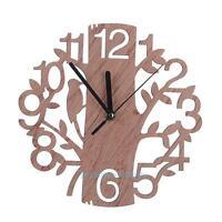 Modern Wooden Tree Wall Clock 3D DIY Wall Watches Living Room Home Office Decor