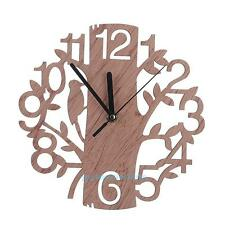 Modern Wooden Tree Wall Clock 3D DIY Wall Watches Living Room Home Office Decor