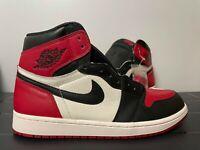 "Nike Air Jordan 1 Retro High ""Bred Toe"" 2018 Gym Red Black 555088-610 New"
