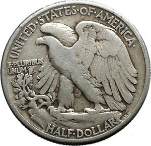1941 WALKING LIBERTY Half Dollar Bald Eagle United States Silver Coin i44667