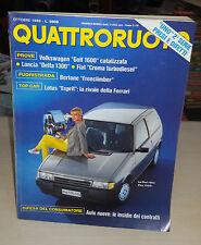 QUATTRORUOTE Ottobre 1989 Fiat uno 60S e 70ieSX VW Golf 1.6GL Lancia De4lta 1300