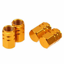4PCS Gold Mini Tire Wheel Rims Stem Air Valve Caps Tyre Cover Car Truck Bike