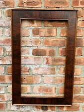 Circa 1880 New York Empire Flat Panel Mahogany Veneered Picture Frame
