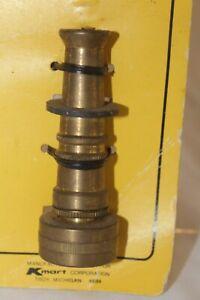 "Vintage Hose Nozzle Solid Brass 3"" NOS"