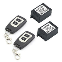 eMylo DC 12V 2X 1 Channel Wireless Remote Control Switch with 2 Transmitters
