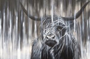 Highland Cow Giclee print, from my original painting, limited edition,wall art