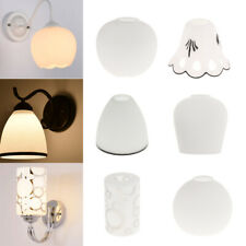 E27 / White Glass Ceiling Fan Chandelier Wall Sconce Light Shade 6 Style