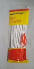 25 RONSON 150mm PIPE CLEANERS Craft Art CHENILLE STICKS White Cotton B2GOF