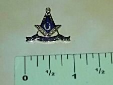 Kansas G Masonic Unity KS Mason pinback lapel hat pin gold tone blue enamel