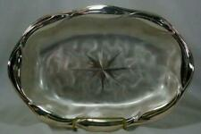 W M F Misc-Ikora Starburst Oval Bowl Silver Plate Holloware With Tag