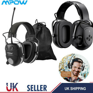Mpow Bluetooth Ear Defenders Ear Protection Muffs Headphones Noise Reduction UK