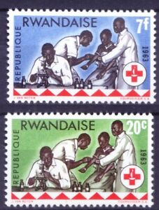 Rwanda 1963 MNH, Red Cross, Microscope, Blood Investigation, Nurse (A4n)