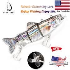 Electric Live bait Swimming Robotic Segment Fishing Lure Animated Swimbait MZ