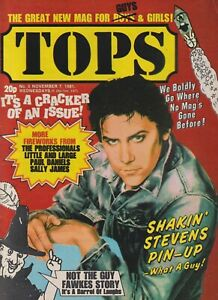 TV Tops # 5 (7th Nov 1981) The Professionals Shakin Stevens Toyah Siouxsie Sioux