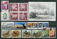 Iceland Year Set 1987 MNH Complete Including Birds Guardian Spirits Ships Child