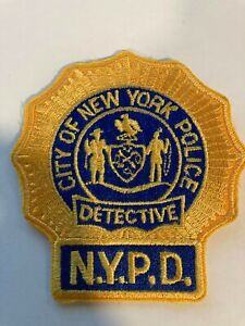 NYPD New York Gold Detective Police Patch