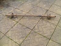 Farm Cart , Horse Cart , Trotting Cart Axle With Hubs SPARES or REPAIR Project