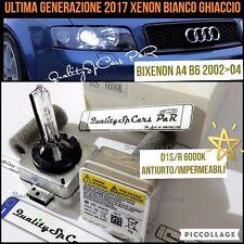 2 Lampadine XENON D1S AUDI A4 B6 2002>04 BIXENOfari HID 6000K RICAMBIO ghiaccio